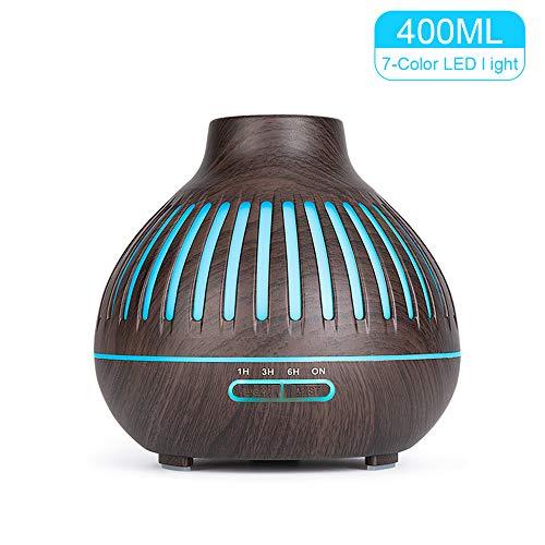 400ml Difusor Aceites Esenciales para Aromaterapia,Diufusor de Aromas Humidificadores de Niebla fría para Yoga,Oficina,SPA,Dark