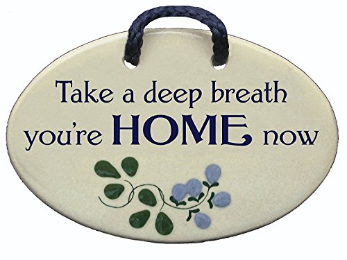Mountain Meadows Pottery Take a deep Breath, You re Home Now. Ceramic Wall plaques Handmade in The USA for Over 30 Years.