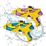 2X Wasserpistolen Set 22 cm Wasserspritzpistole Spritzpistole klein Mini Wasser für Mädchen Jungen...