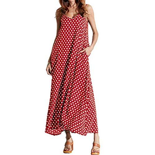 Fandecie Vestido De Columpio Great Western De Verano, para Mujer, con Gran Bolsillo, Color De Punto De Onda
