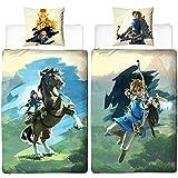 The Legend of Zelda Wende-Bettwäsche Arrow Linon Renforcé 135 x 200cm + 80 x 80cm 100% Baumwolle...