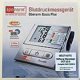 Aponorm Basis Plus Oberarm Blutdruck Messgerät Stiftung Warentest