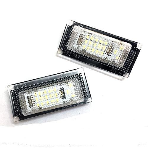 GZCRDZ Car LED License Plate Light 6000K No Error Number Plate Lamp Bulbs for Mini COOPER S R50 R52 R53 Accessories - 1 Pair (White)