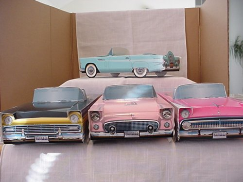 General Motors 36 Classic Cars Party Planner Food Boxes Snack Tray