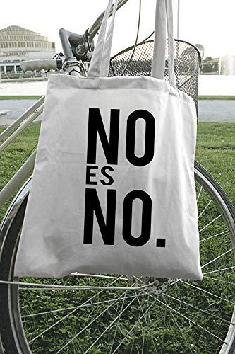 Bolsa de regalo con texto feminista no es feminista en español. Bolsa de regalo, eslogan feminista española en bolsa