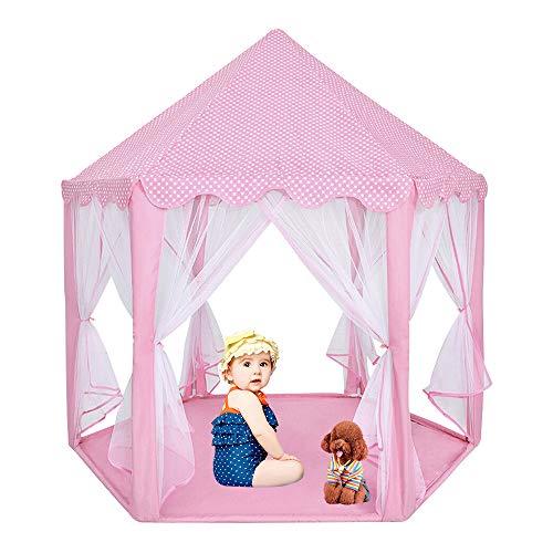 You's Auto Tienda de Princesa Castle Play Nias Tienda de Interior Campaa para Nios al Aire Libre Gran Playhouse con 20 Luces LED para Juguetes Regalo para Nios