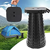 Upgraded Collapsible Portable Stool ,Telescoping Stool,Max Load 485LB Retractable Stool,Camping Folding Stool Telescopic Stool,Lightweight Sturdy Portable Stool for Outdoor,Camping,Travel,Fishing