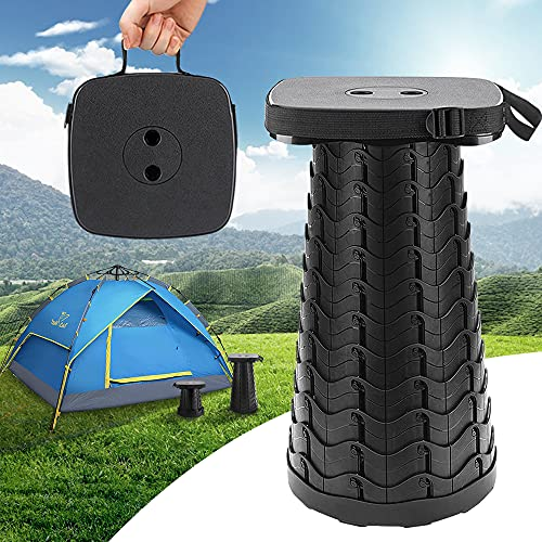 Upgraded Collapsible Portable Stool ,Telescoping Stool,Max Load 485LB Retractable Stool,Camping...