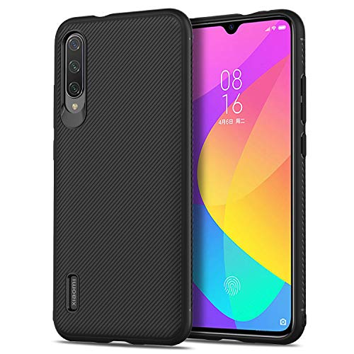 MYLB Compatible for Xiaomi Mi 9 Lite Case,[Scratch Resistant Anti-Fall][Anti-Slip ] Design Flexible Soft TPU Case Anti-Scratch Shockproof Protective Back Cover to Protect The Mobile Phone (Black)