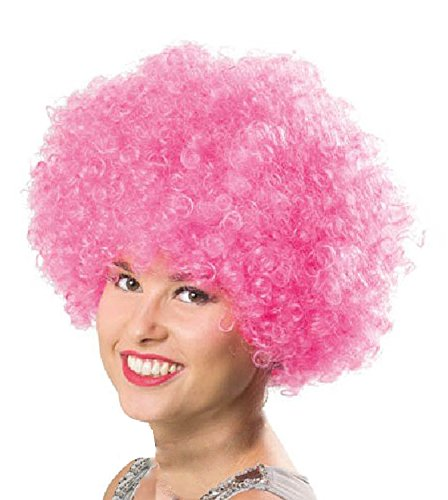 Folat Perruque Afro 26777 – – Taille Unique – Rose