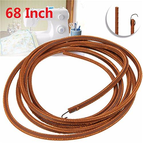 68 inch bruin zachter lederen draagriem voor zanger naaimachine met metalen haak