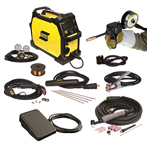 Combo - Spool Gun, Foot Control, and ESAB Rebel EMP 215ic Welding Machine, FREE Gloves: 1 Welding and 1 Tig