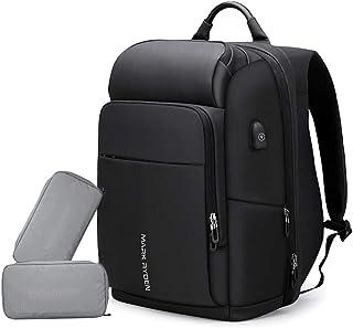 Mark Ryden Bolsa de Ordenador portátil empresarial Multifuncional Anti-ladrón de Gran Capacidad Carga USB Impermeable Mochila Exterior para Hombres con 2 Paquetes Personalizados