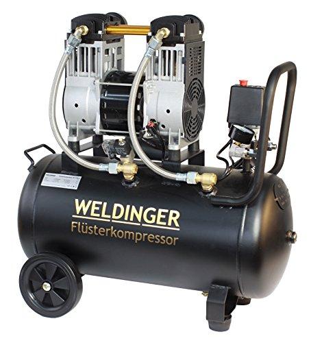 WELDINGER Flüsterkompressor FK 170 pro 1600 W Luftabgabe 170 l ölfrei 5 Jahre Garantie