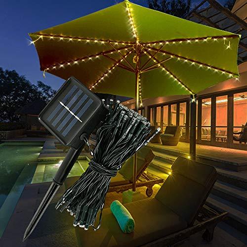 72 Luci per Ombrellone Luci per Ombrellone Solare da Giardino per Esterno IP65 Impermeabili Parasole a LED per Balcone Inclinato Terrazza su Giardino Balcone Spiaggia (NON INCLUSO OMBRELLONE)