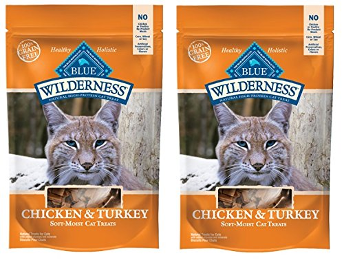 Blue Buffalo Wilderness Grain Free Cat Treats ★ Chicken & Turkey ★ 4 oz