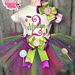 bc83429ef37799 Candyland Tutu Birthday Outfit
