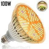 Esbaybulbs 100W相当 LED植物育成ライト E26口金 暖色系 太陽のような光 フルスペクトラム LED電球 150個LED プラントライト 植物育成用ランプ 水耕栽培ライト 室内用ライト 省エネ 長寿命 ガーデニング 家庭菜園 園芸用品