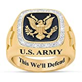 Personalized U.S. Military Ring (Army, 11) #1660-010