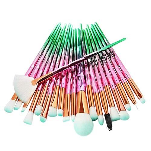 Non toxique durable réutilisable cheveux doux Facile à utiliser 20pcs pinceau de maquillage multicolore base poudre de sourcils Cheveux Doux cosmétique Farine liquide crème éponge élégant