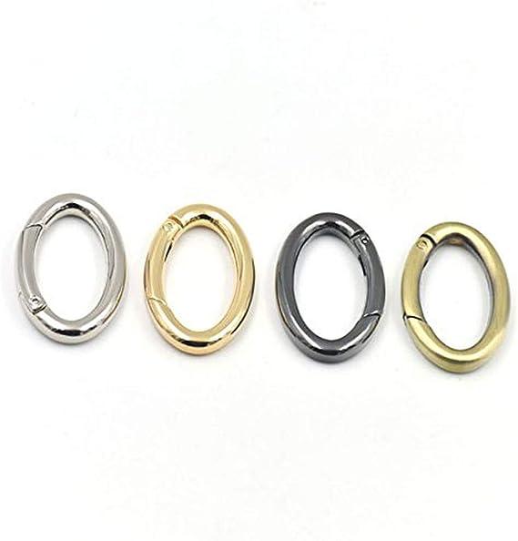 17x33mm Enamel Oval Spring Clasp Spring Gate Enamel Oval Spring Gate Spring Buckle Clasp for Purse Key Jewelery Making Sku#H319