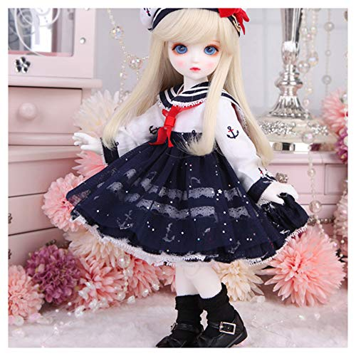 BJD Wig Honey Ball-Jointed Doll 1/6 10.2Inch 26Cm Handmade Mini Doll DIY Toys with Full Set Clothes Shoes Wig Makeup