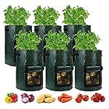 35 * 45cm Bolsas de cultivo de jardín 6 paquetes planta cultivar ollas para la papa de la fresa de la fresa de la zanahoria de la fresa Otros vehículos de la plantación de plantación engrosada de la v