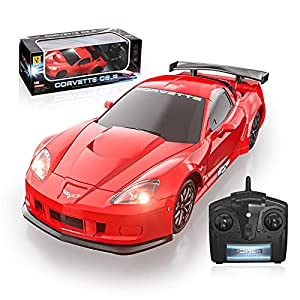 Officially Licensed RC Series, 1:24 Scale Electric Sport Racing Hobby Toy Car Red Model Vehicle for Boys Girls 3 4 5 6 7 8 9 Years Old Birthday Gifts