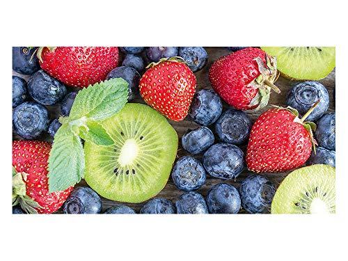 GrazDesign 991063 privacyfolie bessen - vruchten | bedrukte raamfolie | glasdecoratiefolie als zichtwering voor keukenramen 110x57cm