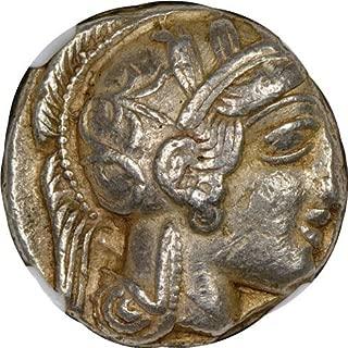 GR c. 440-404 BC Athens Ancient Greece Antique Owl Silver Greek Coin AR Tetradrachm Choice Very Fine NGC
