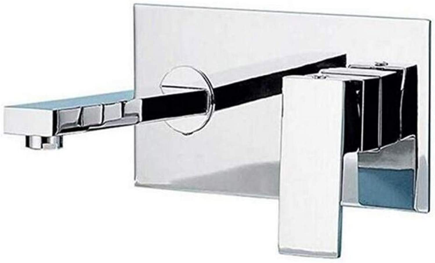 Modern Double Basin Sink Hot and Cold Water Faucettaps Concealed Basin Mixer Wall-Mounted Hot and Cold Water Faucet Pre-Embedded