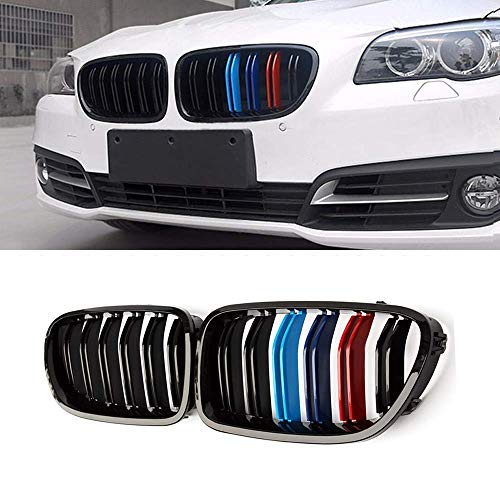 Zealhot Black Front Kidney Grille Grill for 2010-2017 BMW 5 Serie F10 F11 F18 M5(M-Color)