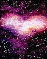 大人と子供のためのDiy5Dダイヤモンド絵画キットアート、夜景オーロラパターンフルドリルクロスステッチクラフトセットツール付き家の壁の装飾用アクセサリー-40x50cm