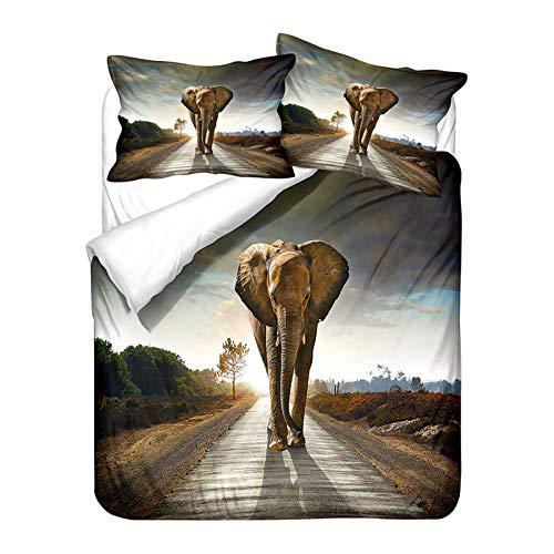 XUNGENG - Set copripiumino per letto king size, 3D di piumino, federa per bambini, in microfibra di poliestere, con cerniera, piumino e 1/2 di Pillowcase Bed Set (B,200 x 200 cm)