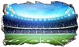 Chicbanners V102 Wandtattoo, Motiv NFL American Football Stadion, 3D-Effekt, selbstklebend, Größe 1000 mm breit x 600 mm tief (groß)