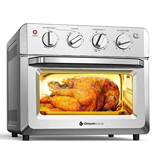 Dreamiracle Air Fryer Toaster Oven Combo 21 Quart 7-in-1 Countertop Dehydrator for Chicken, Pizza,...