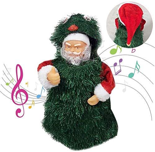 Aoyo Père Noël Musical Sapin de Noël Jouet Danse Chant Doll Décoration for Enfants Kid