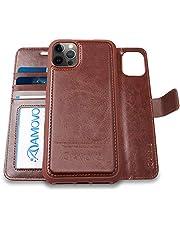 AMOVOケース[2 in 1] ウォレットケース 6.1インチ ケース 手帳型 分離式 取り外し自由 カード収納 横開き スタンド 6.1 手帳カバー