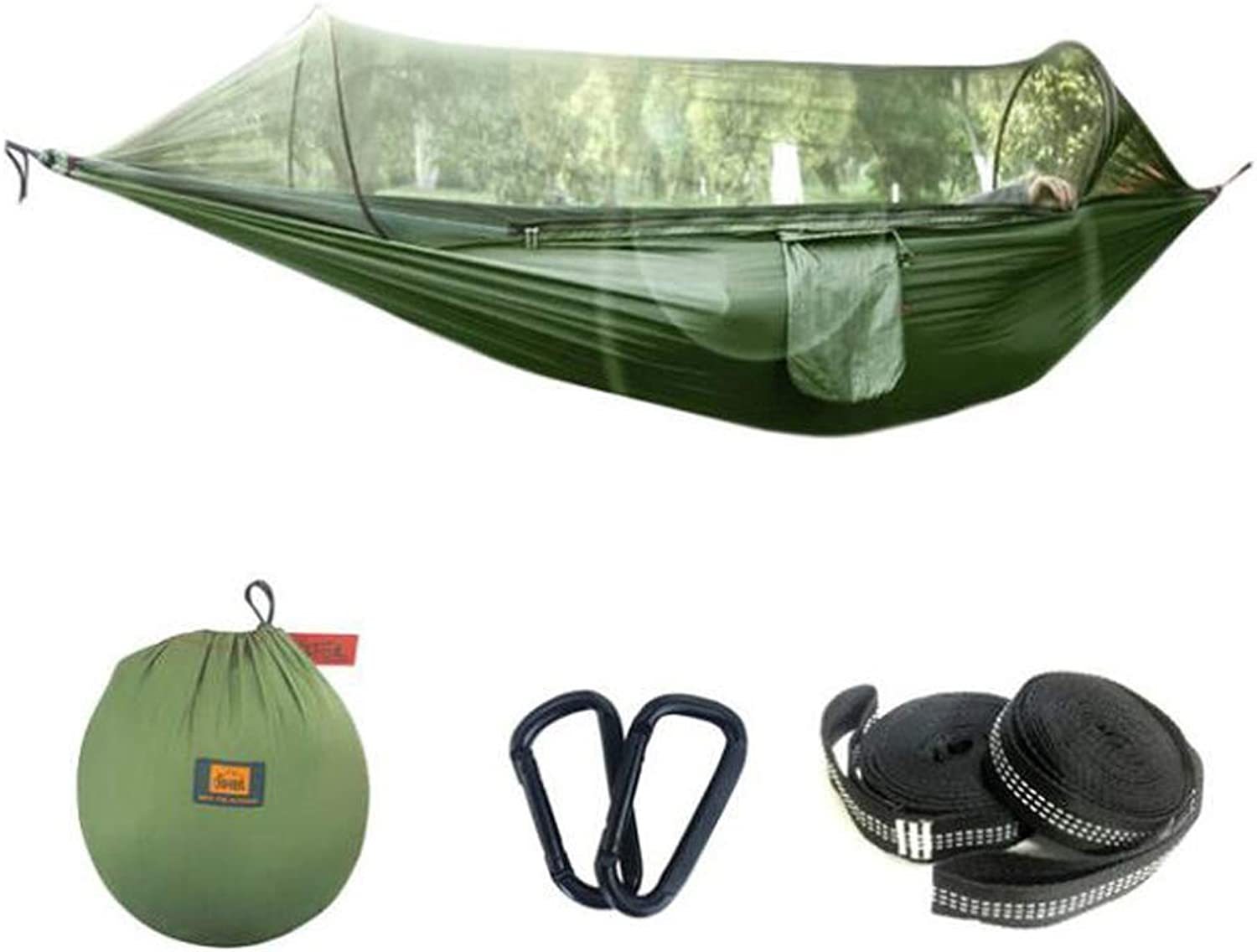 Camping Hammock Swing, Portable Windproof Yarn Account Hanging Outside The Air Tent Speed Open Leisure Tent