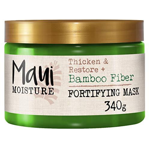 Maui Moisture, Mascarilla Capilar Fortalecedora y Reparadora con Fibras de Bambú, 340 g