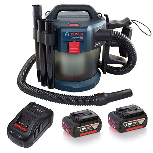 Bosch Professional 06019C6301 GAS 18V-10 L systeem accu nat- en droogzuiger, 18 V, blauw, transparant, 2 stuks