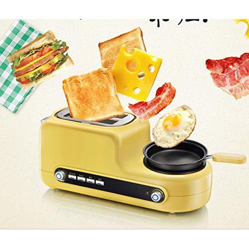 Kitchen Tostadora Mini Tostadora con accesorio para panecillos 3 en 1 Tostadora con hervidor de huevos, espejo, bandeja recogemigas extraíble