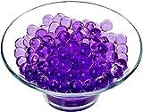 Alittle Aqua Gel Bolas de Agua Hidrogel de Bio-Suelo Biodegradable no tóxico de Cristal para hogar, Oficina, decoración de Fiestas, Relleno de florero Central, Turquesa, 1000 Piezas (púrpura)
