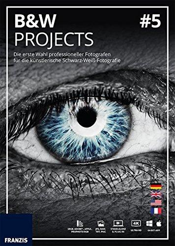 FRANZIS BLACK & WHITE projects 5|5|Für bis zu 3 Geräte|zeitlich unbegrenzt|Bildbearbeitungssoftware für Windows PC & Mac|Disc|Disc