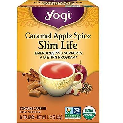 Yogi Tea - Caramel Apple Spice Slim Life (6 Pack) - Energizes and Supports a Dieting Program - 96 Tea Bags by Yogi