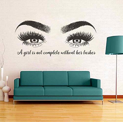 Wandsticker Hintergrund Wandtattoo Schönheitssalon Wandtattoo Augenbrauen Wandaufkleber Wimpernverlängerung Vinyl Wall Poster Lash Bar Decor