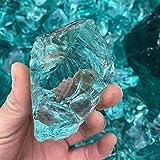 QWEQWE Claro Cristal de Cristal Piedra decoración del hogar luz Verde Cristal Material jardín decoración (Color : Glaze Glass Crystal, Size : 1pcs (25-30g))