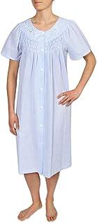 Miss Elaine Women's Short Seersucker Snap Robe & Short Sleeves