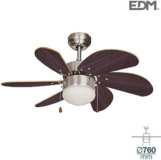 Ventilador de techo ARAL 50W 76cm wengué 1xE14 60W EDM 33984