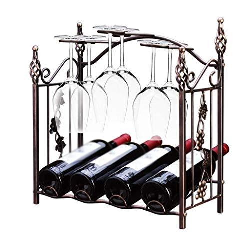 NXYJD Inicio Sala de Estar Estante del Vino, Vino cáliz revés Titular de Down de Cristal Titular de la Botella Retro Europeo